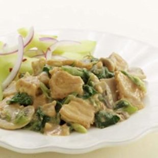 Marinated, extra firm tofu is a tasty alternative to pork in a stir-fry.