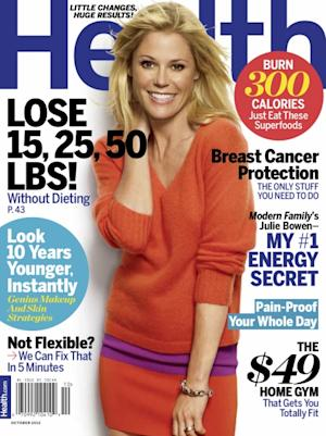 Julie Bowen on the cover of Health magazine (Oct. 2012) -- Health Magazine