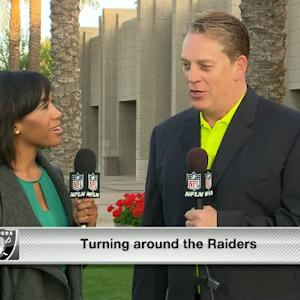 Oakland Raiders head coach Jack Del Rio: We added depth, but we still have work to do