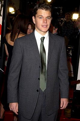 Premiere: Matt Damon at the Westwood premiere of Warner Brothers' Ocean's Eleven - 12/5/2001