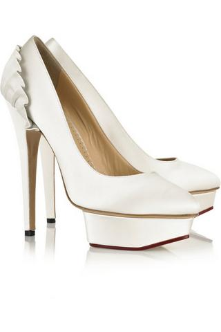 Charlotte Olympia shoes, $840, at Net-a-Porter
