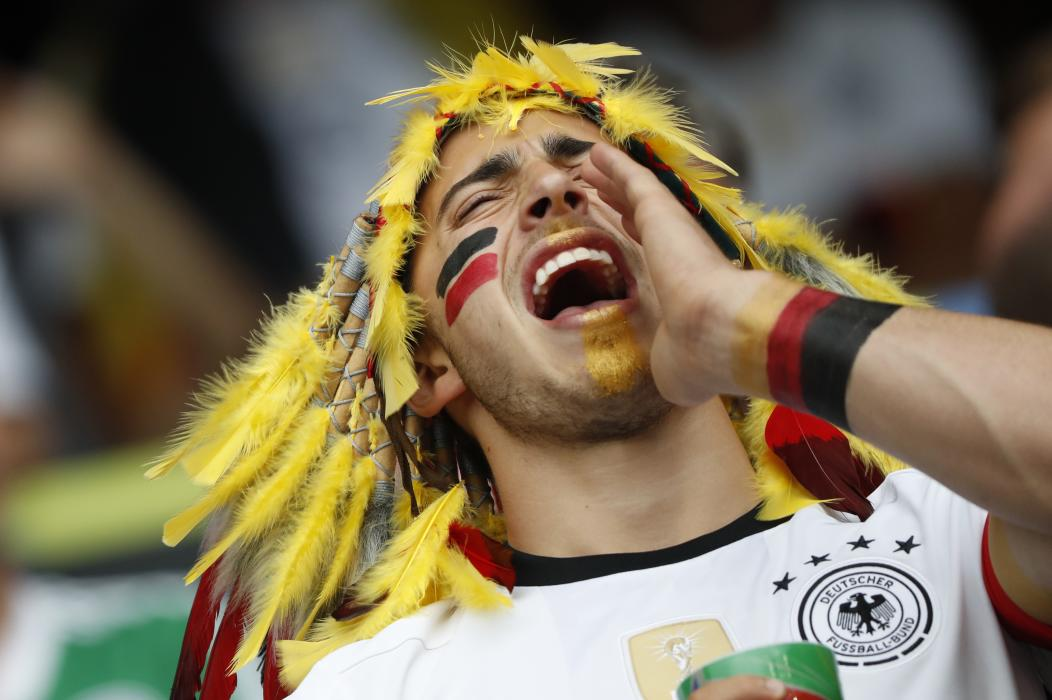 Germany fan before the match