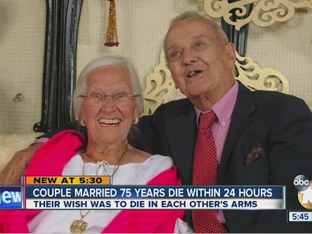 It was a wish fulfilled for Jeanette and Alexander Toczo, who wanted to die in each other's arms.