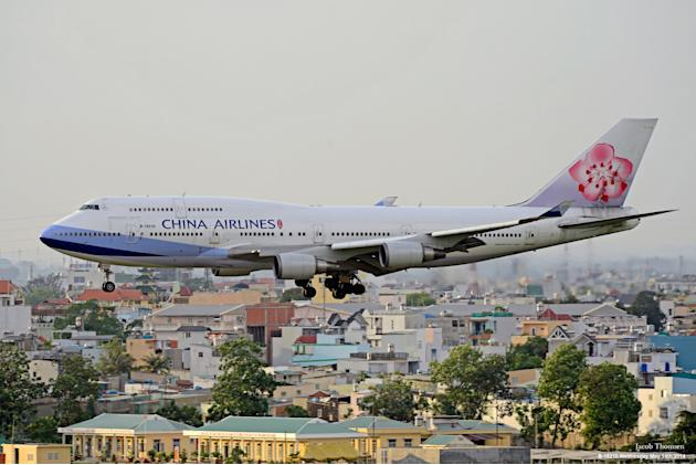 A China Airlines aircraft prepares to land at Tan Son Nhat airport in Vietnam's southern Ho Chi Minh city