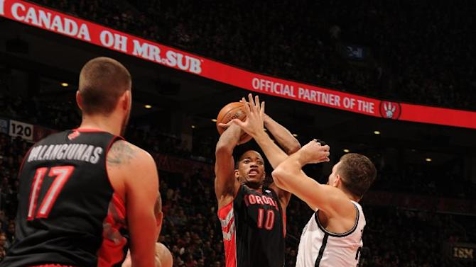 DeRozan scores 26 as Raptors beat Nets 96-80