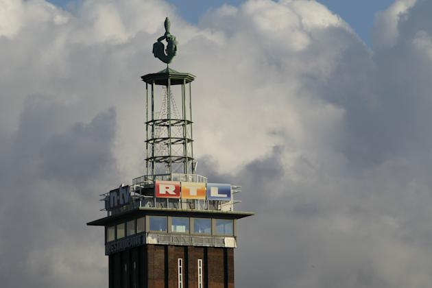 File photo of the logo of  RTL Television as seen on the Cologne trade fair tower near the RTL headquarters in Cologne