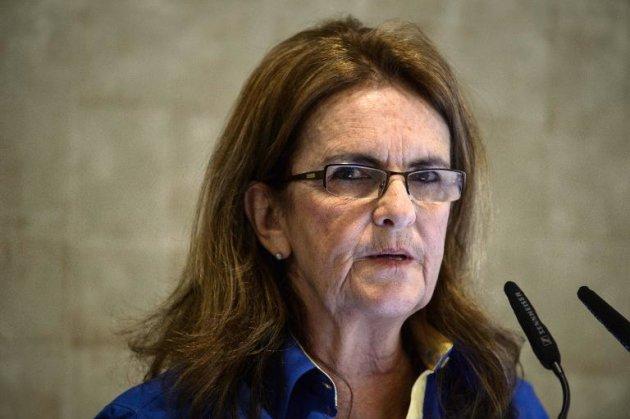 A presidente da Petrobras, Graça Foster, participa de uma entrevista coletiva na sede da empresa, no Rio de Janeiro
