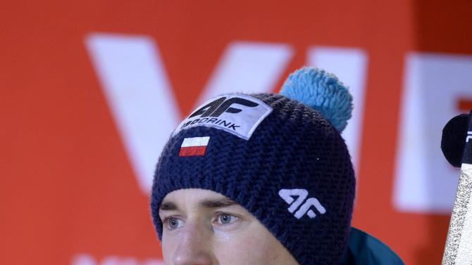 Poland's Kamil Stoch is seen after he won the Ski Jumping Large Hill FIS World Cup in Kuopio