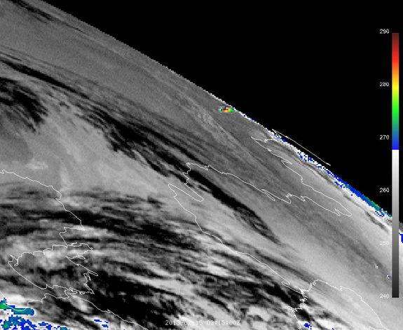 Satellite Sees Russian Meteor Explosion from Space