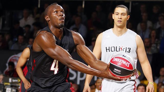 Basketball - Usain Bolt's magic wears off in celebrity basketball match