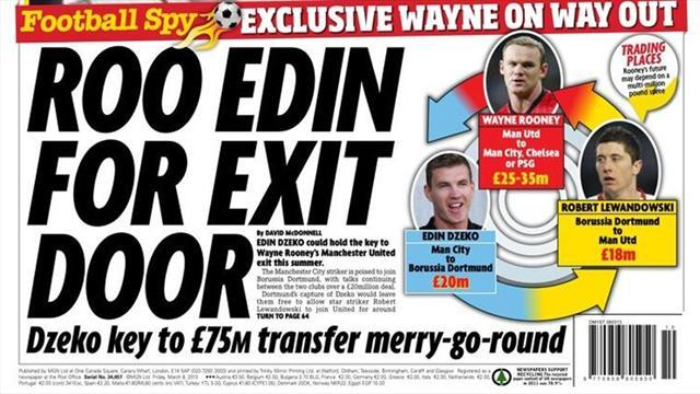 Premier League - Paper round: Rooney, Dzeko, Lewandowski swap?