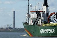 Greenpeace ship Arctic Sunrise, seen in Fray Bentos, Uruguay, on March 20, 2006. The group says it has deployed its icebreaker through an Arctic shipping route to protest against oil drilling in the fragile ecosystem, defying Russian authorities