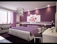 Decorating a beautiful purple bedroom