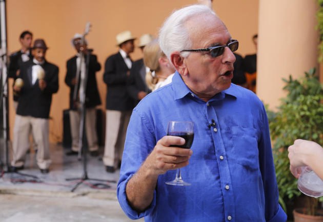 In this May 20 2015 photo, US art collector Howard Farber attends a cultural event organized by his foundation, in Havana, Cuba. Travel to Cuba for pure tourism remains banned, but American are findin