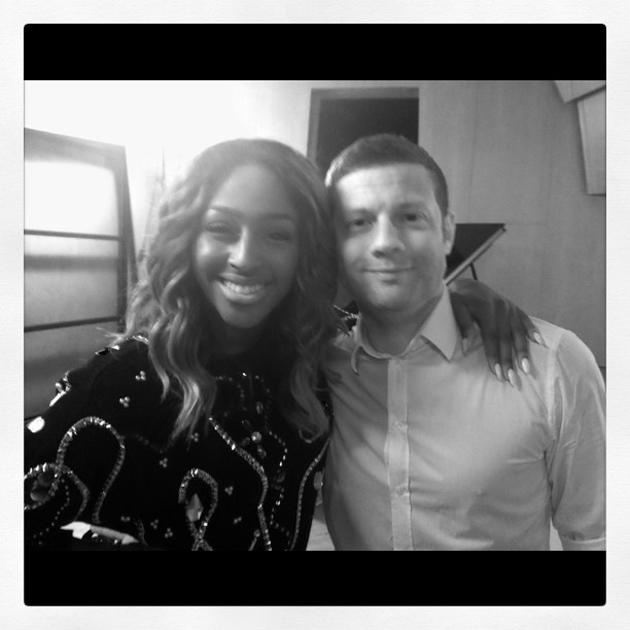 Celebrity Twitpics: We do love a little X Factor reunion, so this cute Twitpic of Alexandra Burke and Dermot O'Leary made us smile. The pair bumped into each other at an event, and Alexandra tweeted t
