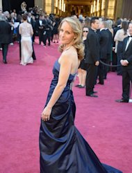 Best Supporting Actress nominee Helen Hunt arrives on the red carpet for the 85th Oscars on February 24, 2013 in Hollywood, California