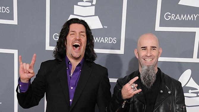 The 55th Annual GRAMMY Awards - Arrivals: Frank Bello and Scott Ian of Anthrax