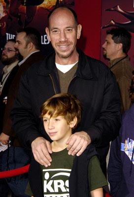 Premiere: Miguel Ferrer and son at the Hollywood premiere of Disney and Pixar's The Incredibles - 10/24/2004