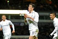 """Tottenham Hotspur's Gareth Bale (C) during a League Cup match in October. """"We needed the right reaction after the weekend and we certainly did that,"""" said the winger. """"The lads are delighted and we've got to maintain that form now going into the Premier League."""""""