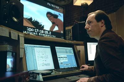 Composer Hans Zimmer scoring a scene in Dreamworks' Spirit: Stallion of the Cimarron