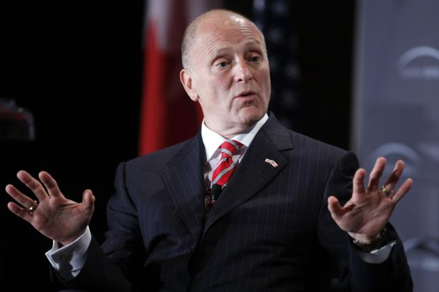 U.S. Ambassador to Canada Bruce Heyman speaks during an event in Ottawa June 2, 2014. REUTERS/Blair Gable (CANADA - Tags: POLITICS)