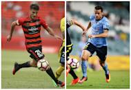 Terry Antonis is likely to be one of two ex-Sky Blues to face the runaway A-League leaders as the Wanderers aim to end their derby drought