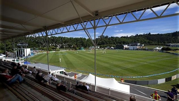 A general view of University Oval during day five of the first Test match between New Zealand and the West Indies in Dunedin (AFP)