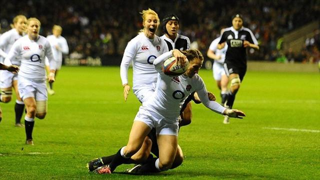 Rugby - England women advance to quarter-finals