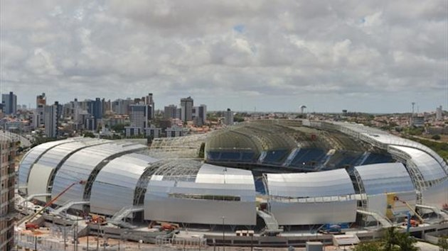 The Arenas das Dunas stadium in Natal (AFP)