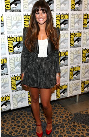 Lea Michele Looks Demure In Chanel Inspired Suit At Comic-Con