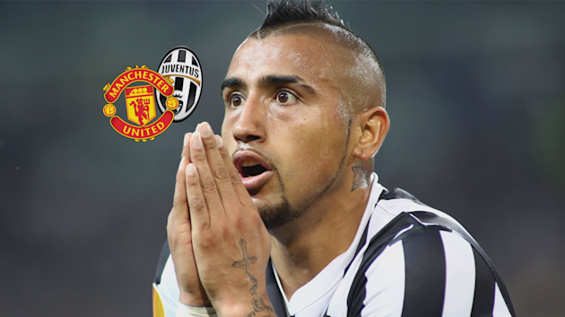 Vidal was linked with a summer move to Man United.