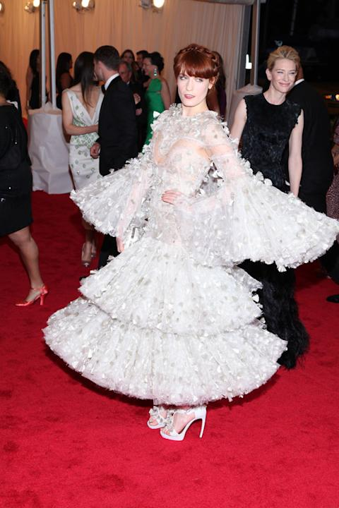 Florence Welch grabbed attention in an Alexander McQueen gown / WENN