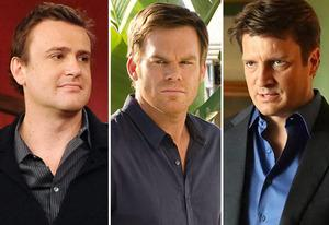 Jason Segel, Michael C. Hall, Nathan Fillion | Photo Credits: Ron P. Jaffe/Fox; Randy Tepper/Showtime; Richard Cartwright/ABC