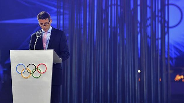 London2012 chairman Sebastian Coe delivers his speech during the closing ceremony of the London 2012 Olympic Games at the Olympic stadium (Reuters)