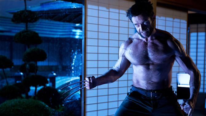 "This publicity photo released by Twentieth Century Fox shows Hugh Jackman as Logan/Wolverine in a scene from the film, ""The Wolverine."" The film opens July 25, 2013. (AP Photo/Twentieth Century Fox, Ben Rothstein)"
