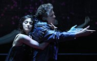 "In this theater image released by The Publicity Office, Bebe Neuwirth, left, and Anthony Heald perform in ""A Midsummer Night's Dream,"" in New York. (AP Photo/The Publicity Office, Joan Marcus)"