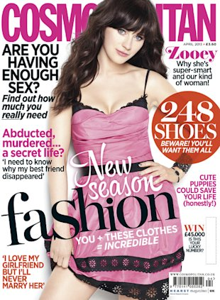 Zooey Deschanel for Cosmopolitan UK