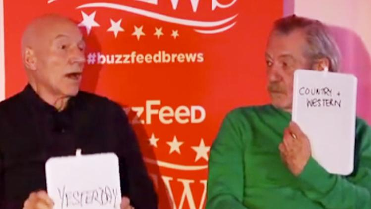 Patrick Stewart and Ian McKellen play The Newlywed Game, are the cutest couple