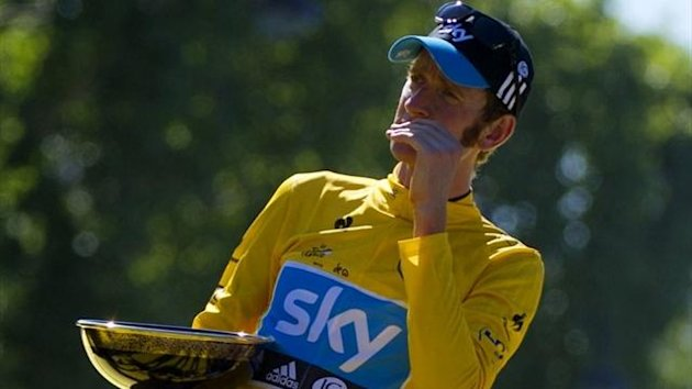 Bradley Wiggins on the 2012 Tour podium (AFP)