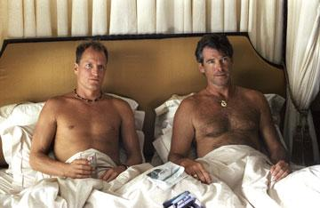Woody Harrelson and Pierce Brosnan in New Line Cinema's After the Sunset