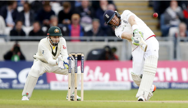England's Ian Bell is caught out by Australia's David Warner
