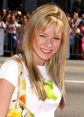 Premiere: Brie Larson at the Hollywood premiere of Warner Brothers' A Cinderella Story - 7/10/2004