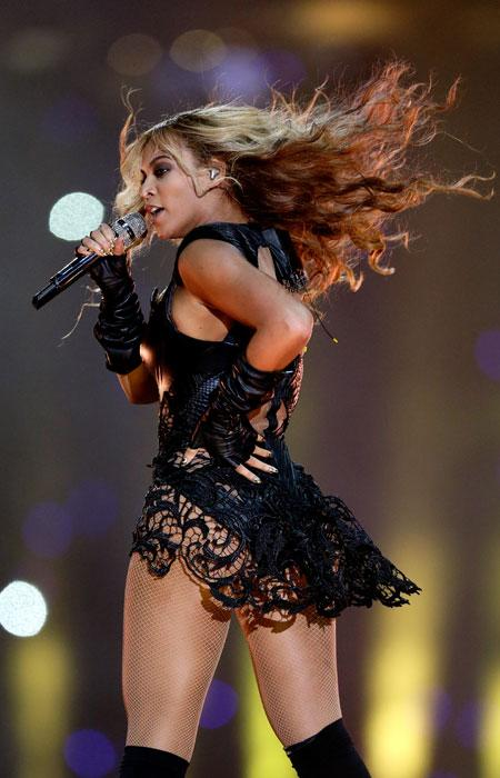 Singer Beyonce performs during the Pepsi Super Bowl XLVII Halftime Show at Mercedes-Benz Superdome on February 3, 2013 in New Orleans, Louisiana. (Photo by Kevin Mazur/WireImage)