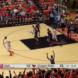 Highlights: Foul at the buzzer nudges Oregon State basketball past Utah