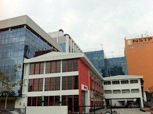 Another view of Balai Berita (Yahoo! Newsroom photo).