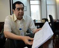 Andres Bautista, head of the Presidential Commission on Good Government, tasked with recovering embezzled wealth from the late dictator Ferdinand Marcos, pictured in Manila, on December 3, 2012. The Philippines is to wind down a near-30-year hunt for the embezzled wealth of late dictator Ferdinand Marcos, with more than half the supposed $10 billion fortune still missing, according to Bautista