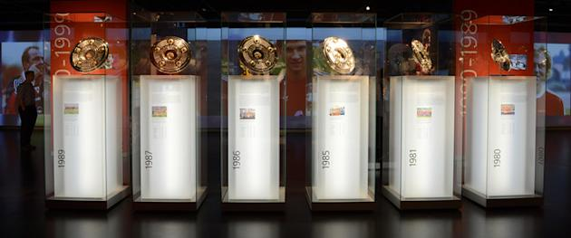 German Soccer Championship Trophies AFP/Getty Images