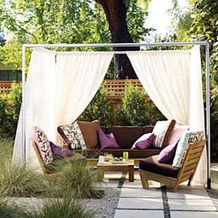 Romantic backyard cabana