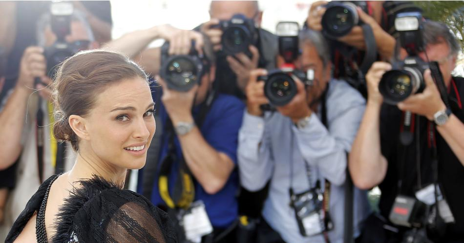 Director and actress Natalie Portman poses during a photocall for the film