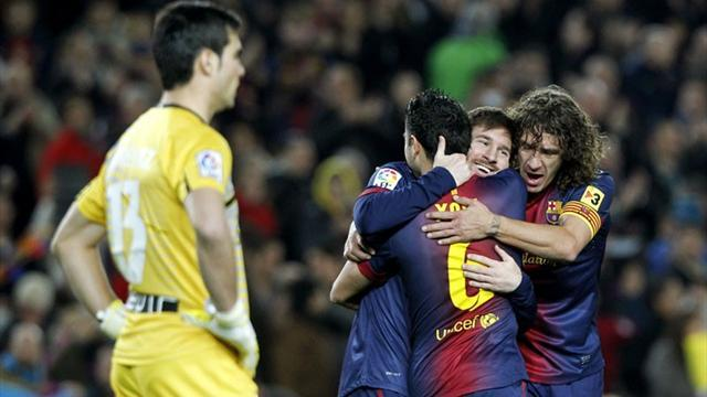 Liga - Magical Messi nets four in Barcelona romp